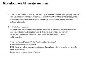 Modulopgave (frem til seminar 3)
